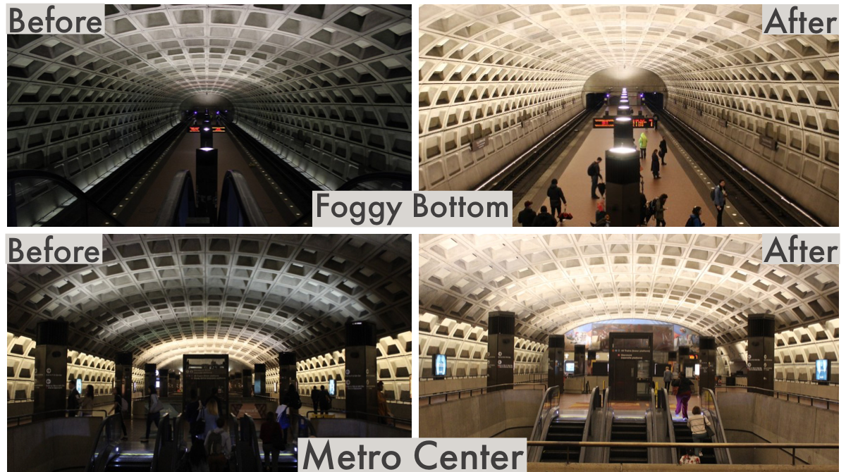 Lighting Upgrades Before After Foggy Bottom MTCR