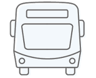 Bus light blue icon
