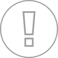 Alert outline gray icon