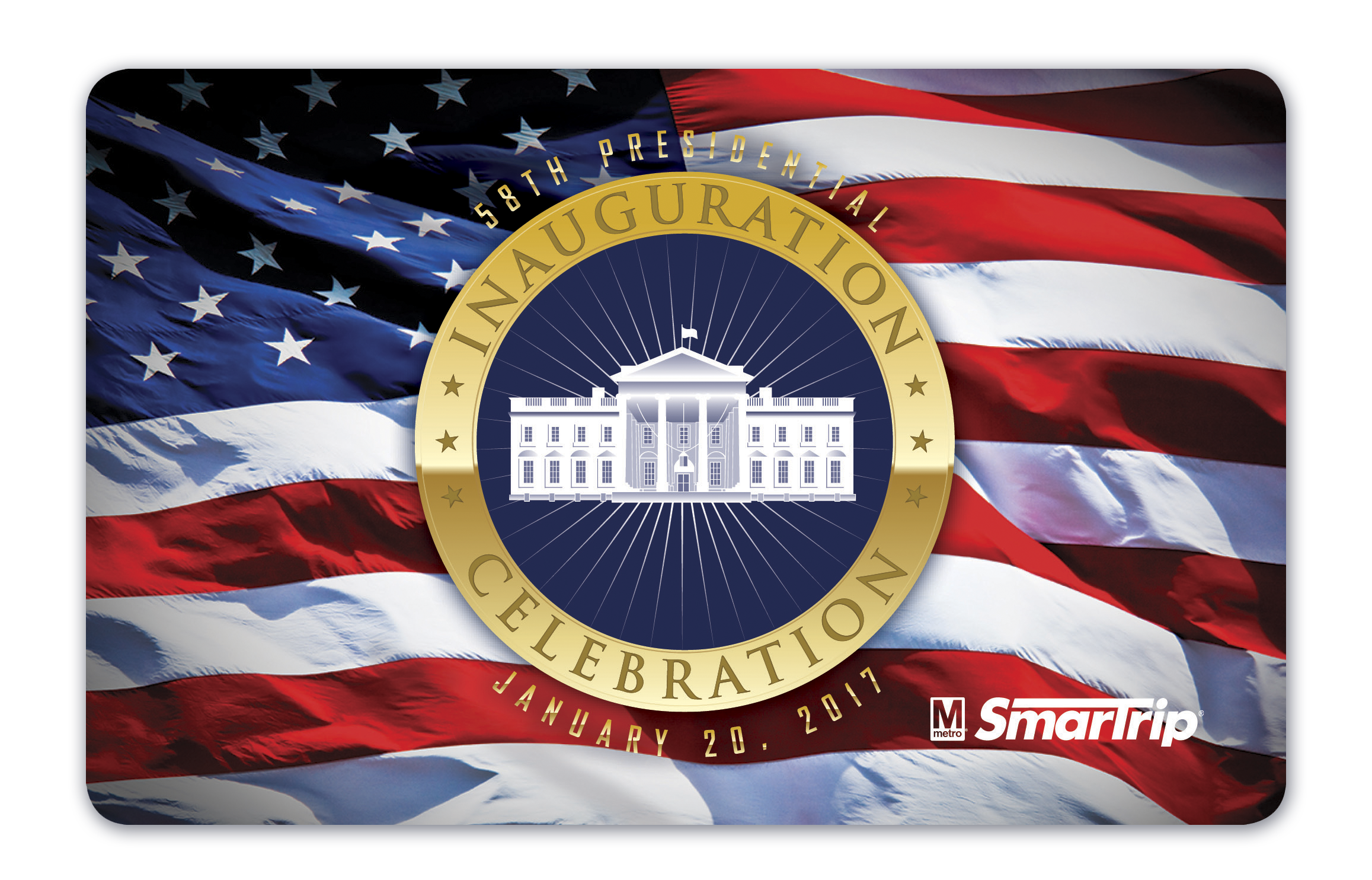 Inauguration SmarTrip Trump design