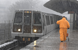 Metro Rail in Snow
