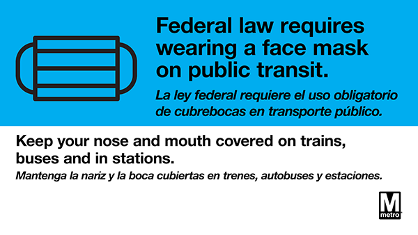 face masks required federal law 600w signage