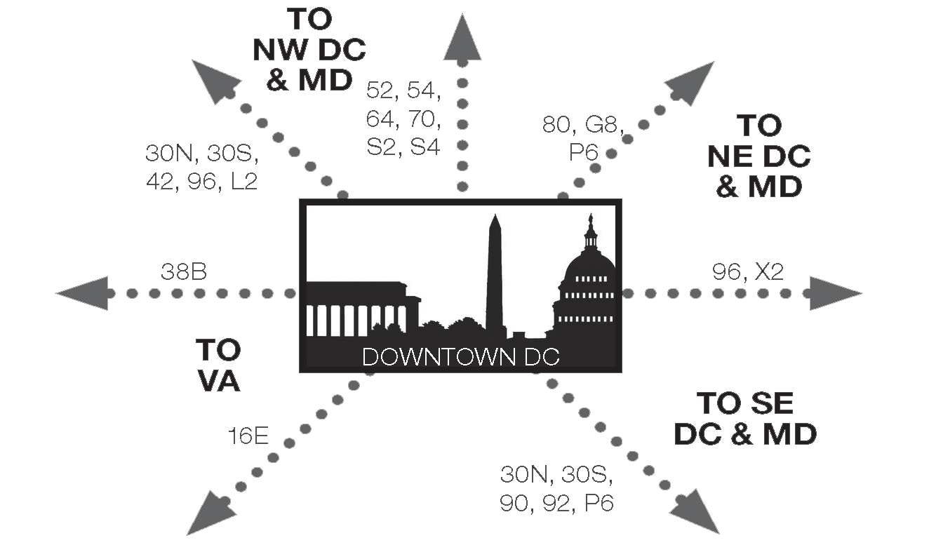 2017 Metrobus routes from dc