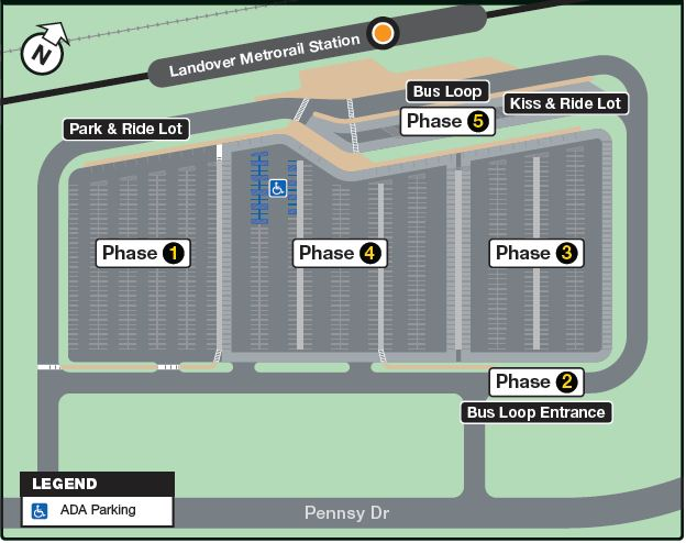 Landover Station construction map